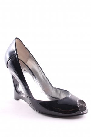 Guess by Marciano Peeptoe Pumps schwarz Glanz-Optik