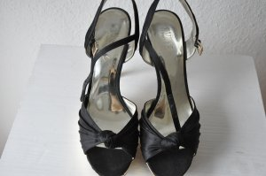 Guess Platform High-Heeled Sandal black satin