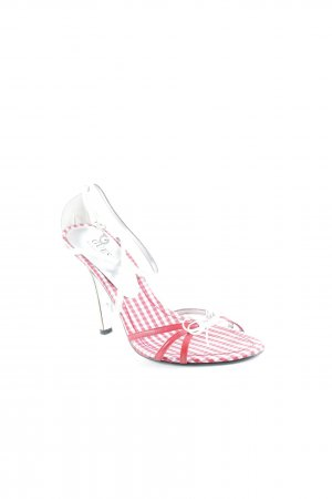 Guess by Marciano Strapped High-Heeled Sandals white-red casual look