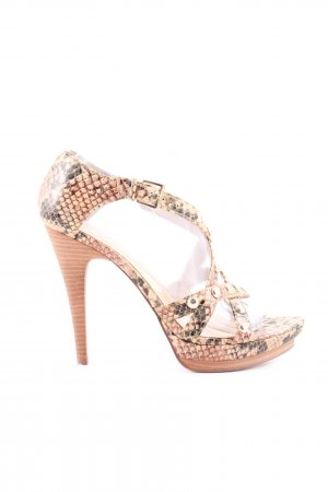 Guess by Marciano Riemchenpumps nude-schwarz Animalmuster extravaganter Stil