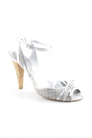 Guess by Marciano Riemchenpumps silberfarben-creme Elegant