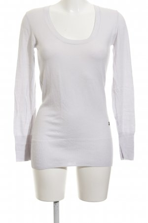 Guess by Marciano Rundhalspullover hellgrau Casual-Look