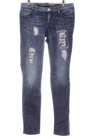 Guess by Marciano Skinny Jeans blau-creme Casual-Look
