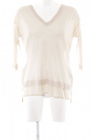 Guess by Marciano V-Ausschnitt-Pullover creme Elegant