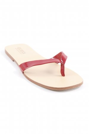 Guess by Marciano High-Heeled Toe-Post Sandals dark red-nude beach look