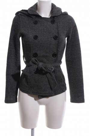 Guess Pea Jacket light grey flecked casual look