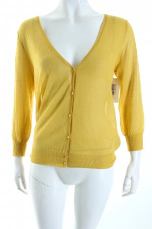 Guess Cardigan dunkelgelb Transparenz-Optik