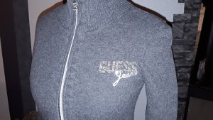Guess Cárdigan de punto color plata-gris