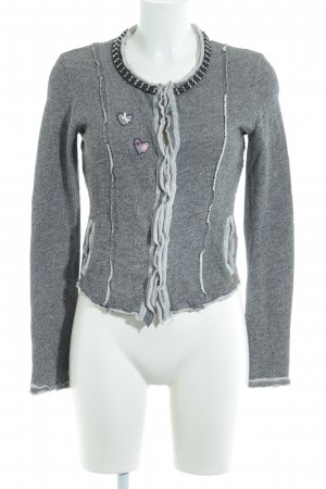 Guess Cardigan grigio-grigio chiaro puntinato stile rockabilly