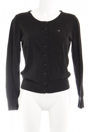 Guess Cardigan schwarz Casual-Look