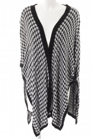 Guess Cardigan black-white houndstooth pattern casual look