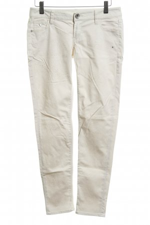 Guess Chino crema estampado de leopardo look casual