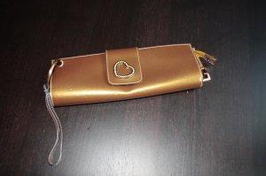Guess Clutch Bronzefarben mit Logo