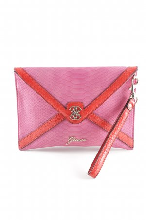 Guess Clutch pink-rot Animalmuster Elegant