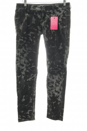 Guess Corduroy Trousers black-light grey allover print casual look