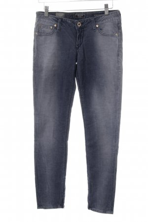 Guess Corduroy Trousers slate-gray-dark blue casual look