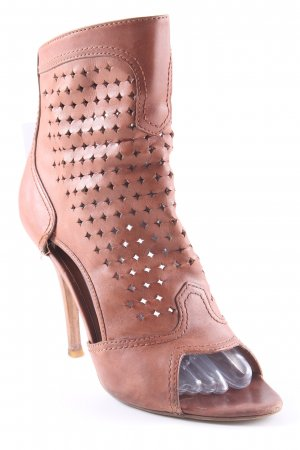 Guess Stivaletto cut out cognac elegante