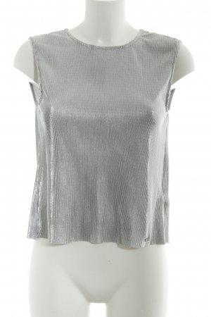 Guess Top cut-out argento stile metallico