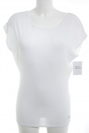 Guess Top cut out blanco-color plata look casual
