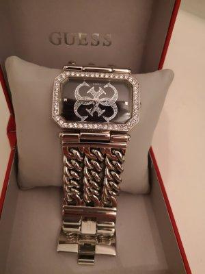 Guess Reloj con pulsera metálica gris claro-negro acero inoxidable