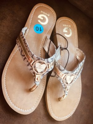 Guess Toe-Post sandals beige-gold-colored