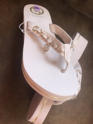 Guess Toe-Post sandals rose-gold-coloured