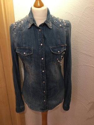 outlet store 3f490 153bc Guess Damen jeans hemd, Gr. 38