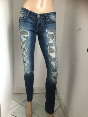 Guess Low Rise jeans azuur-staalblauw Katoen