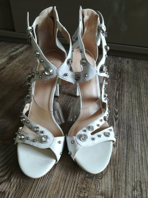 Guess High-Heeled Sandals white leather