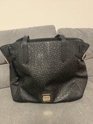 Guess Shoulder Bag black-silver-colored polyester