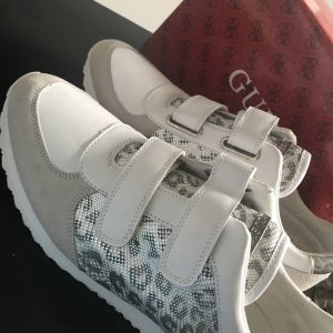 Guess by Marciano Basket velcro blanc-argenté