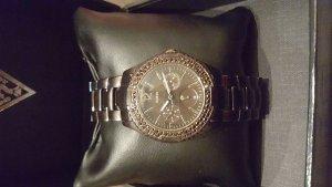 Guess Damen Uhr Metallbraun