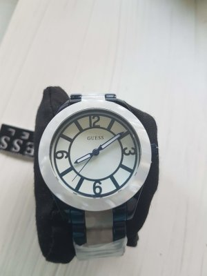 Guess Watch With Metal Strap blue