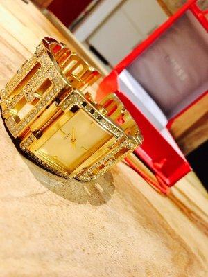 Guess Reloj naranja dorado