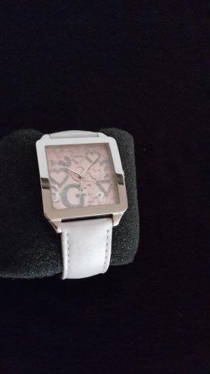 Guess Damenuhr, W80056L2, rosafarben, Lederarmband, 1x getragen, wie neu!!