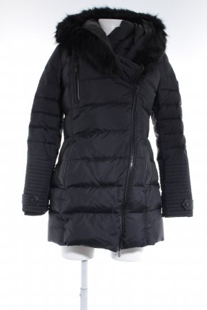 Guess Down Coat black brown quilting pattern casual look