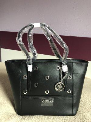 GUESS Delaney Small Classic Tote Tasche Schultertasche schwarz black 28 cm NEU