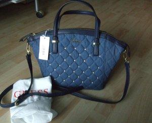 Guess Denim Handtasche Tasche Satchel Crossbag