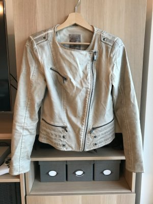 Guess Giacca in pelle beige Pelle