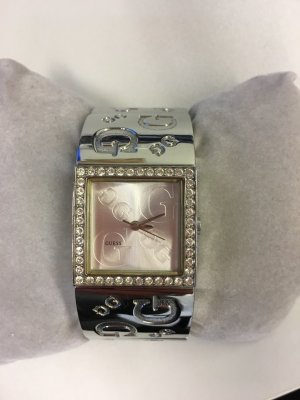 Guess Edelstahl-Uhr mit Zirkonia