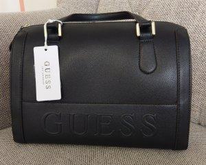 Guess etery box satchel schwarz gold tasche crossbody handtasche umhängetasche schultertasche