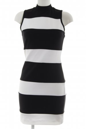 Guess Etuikleid schwarz-weiß Streifenmuster Casual-Look