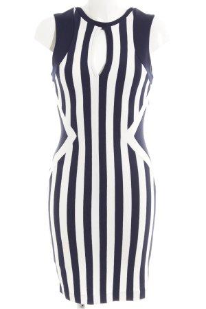 Guess Vestido ceñido de tubo azul oscuro-blanco rayas horizontales look casual