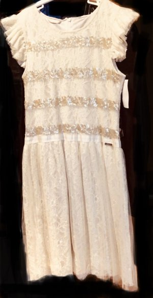 Guess Ball Dress cream-gold-colored