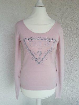 Guess Jersey color plata-rosa