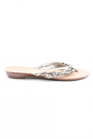 Guess Flip-Flop Sandals light grey-silver-colored casual look