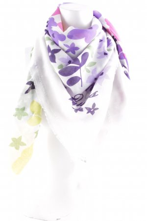 Guess Fringed Scarf floral pattern casual look