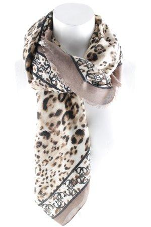 Guess Sjaal met franjes luipaardprint casual uitstraling