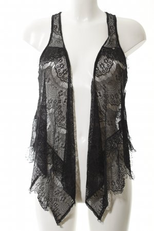 Guess Fringed Vest black lace look