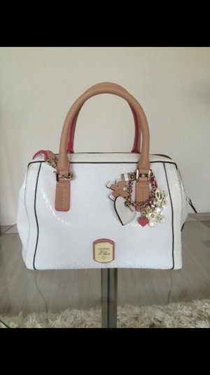 Guess Frosted Box Satchel Handtasche weiß #sommer #bowlingbag